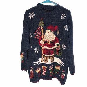 Tiara International Vintage Ugly Christmas Sweater